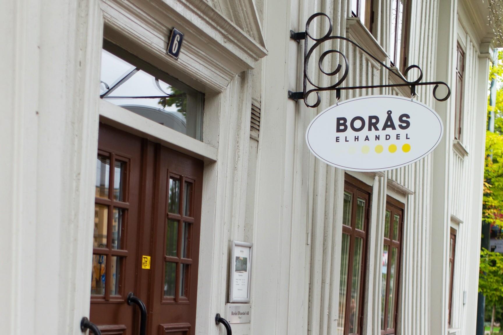 Bild på Borås Elhandels kontor på Västerlånggatan 6 i Borås, Brännerigården.